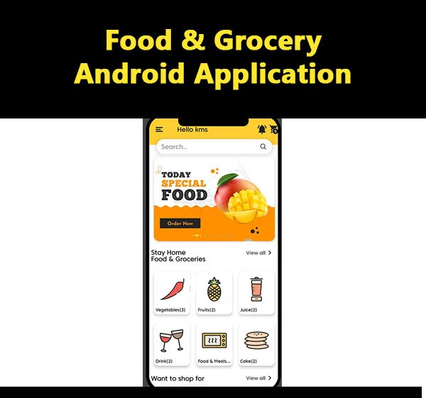 Food & Grocery Android Application